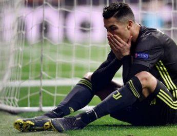 Cristiano Ronaldo, manita ai tifosi dell'Atletico ma la sua è una serata da incubo