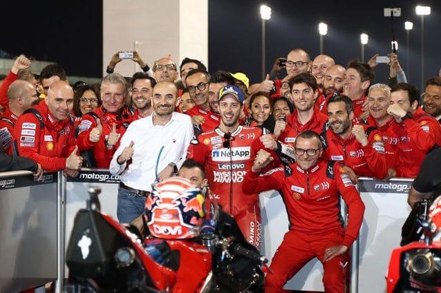 L'appendice montata al forcellone della Ducati di Andrea Dovizioso in Qatar