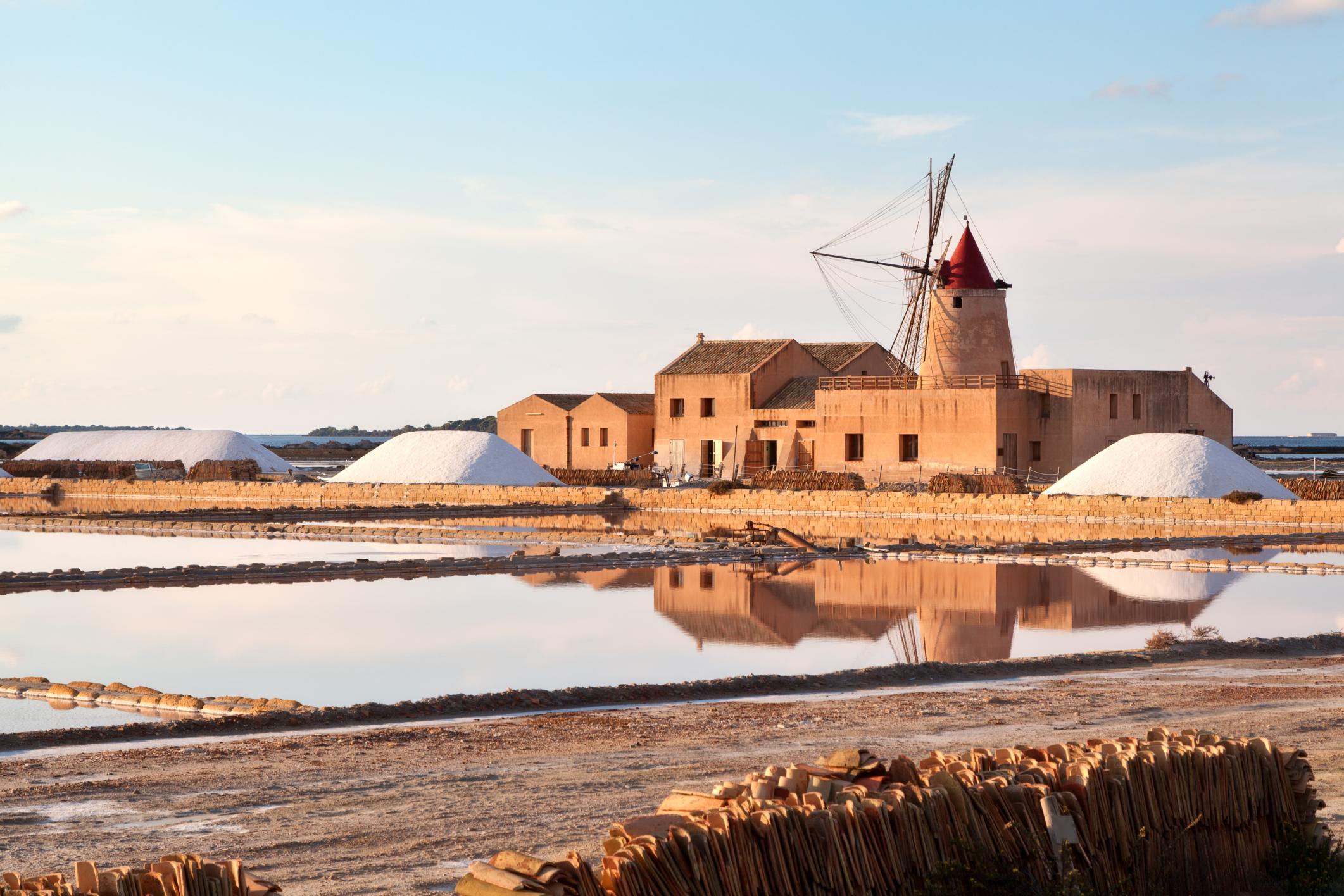 Windmill at Marsala saltern
