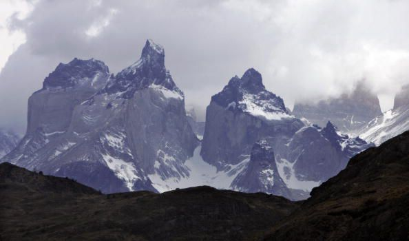 View of icy mountains in Torres del Paine National Park in Patagonia, Chile, 10 November 2007. AFP PHOTO/ Rodrigo ARANGUA (Photo credit should read RODRIGO ARANGUA/AFP/Getty Images)