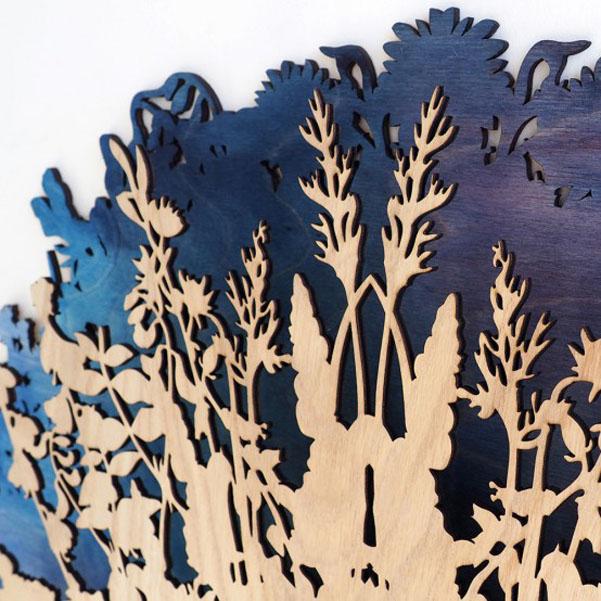 Orologio da parete botanico di svetlana mikhailova for Piastra a induzione portatile ikea