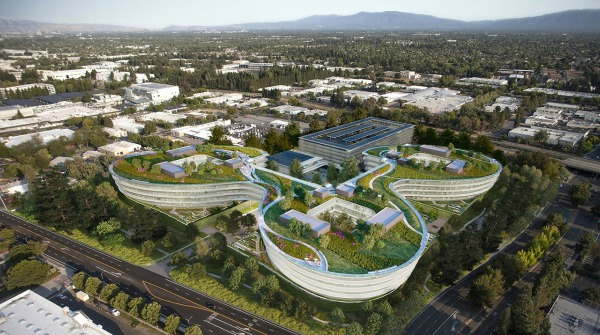 Il render del nuovo Apple campus di Sunnyvale