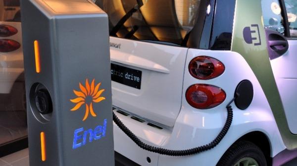 Colonnina Enel auto elettrica misura