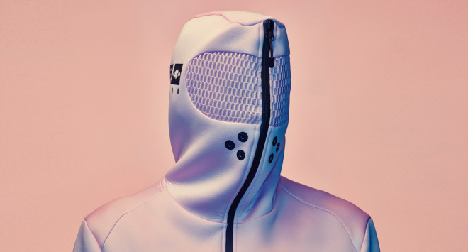 Vollebak's Pink Hoodie Supposedly Calms You by Zipping Over Your Face