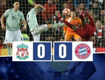 Finisce 0-0 il primo round tra Liverpool e Bayern: si decide tutto a Monaco